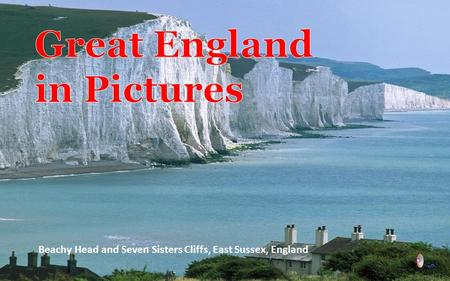 Beachy Head and Seven Sisters Cliffs, East Sussex, England.