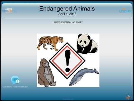Endangered Animals April 1, 2013