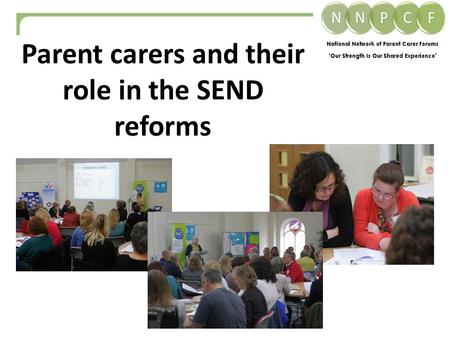 Parent carers and their role in the SEND reforms.