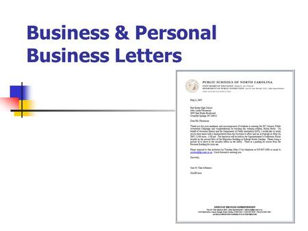 Resume Business Letter  Memo  Ppt Download