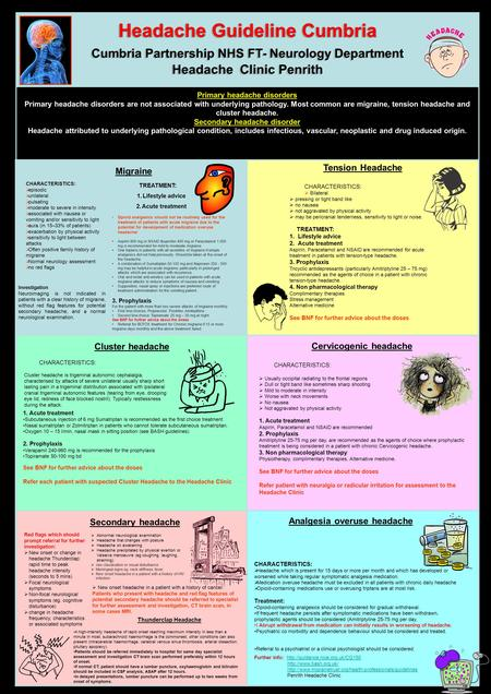 Headache Guideline Cumbria