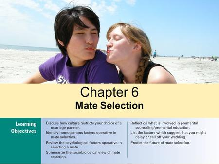 Chapter 6 Mate Selection.