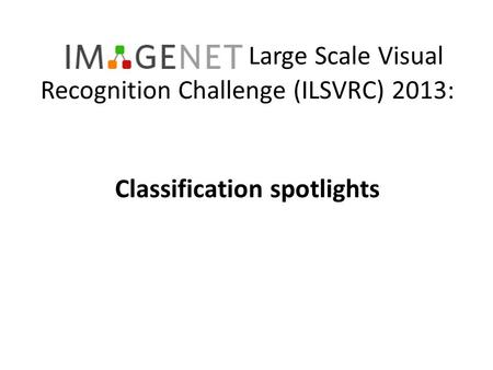 Classification spotlights