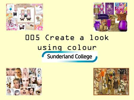 005 Create a look using colour. Connect activity Words from word bag.