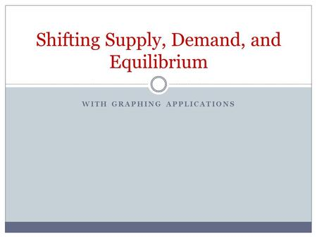 WITH GRAPHING APPLICATIONS Shifting Supply, Demand, and Equilibrium.