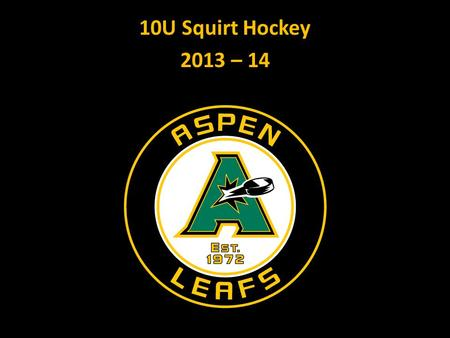 10U Squirt Hockey 2013 – 14. Agenda 1. Personal Introduction 2. AJH Mission and Goals 3. Player Development Plan 4. 2013 – 14 Program Options 5. Questions/Discussion.