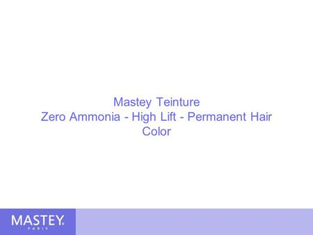 Mastey Teinture Zero Ammonia - High Lift - Permanent Hair Color