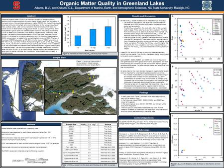 Dissolved organic matter (DOM) is an important property of lake ecosystems, resulting from the decomposition of organic matter stored in soils and of plankton.