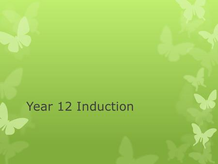 "Year 12 Induction. WALT…  …you will be doing an activity based on a previous AS Biology ISA  This will be a realistic ""taste"" of what your year 12 lessons."
