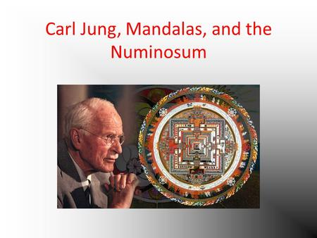 Carl Jung, Mandalas, and the Numinosum. Christian Mandala Christ's ascension into heaven after his resurrection from the dead The circle is a clock.