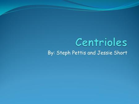 By: Steph Pettis and Jessie Short. What it is In every animal-like cell there are 2 small organelles called CENTRIOLES. They help cells divide. They work.