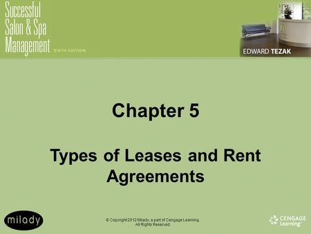 Chapter 5 Types of Leases and Rent Agreements