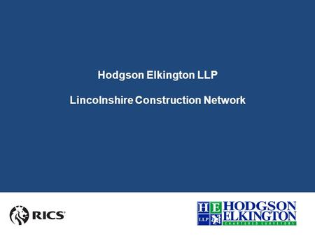Hodgson Elkington LLP Lincolnshire Construction Network.