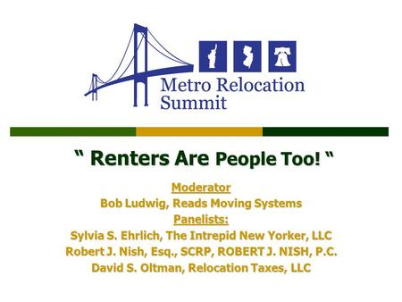 """ Renters Are People Too! """