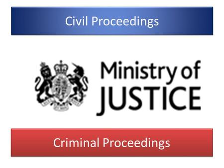 Civil Proceedings Criminal Proceedings.
