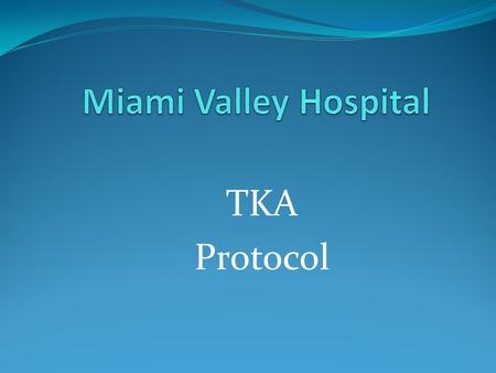 TKA Protocol. Swelling control and Range of Motion are 2 of the most important components of rehabilitating a TKA.
