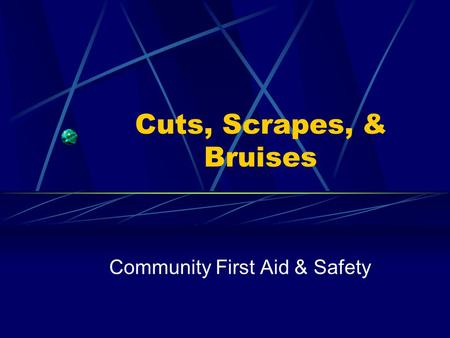 Community First Aid & Safety