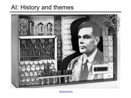 AI: History and themes Image source. What are some successes of AI today?