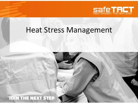 Heat Stress Management. Doing too much on a hot day, spending too much time in the sun or staying too long in an overheated place can cause heat-related.
