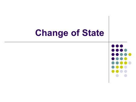 Change of State. The 3 Basic States of Matter What about Plasma?