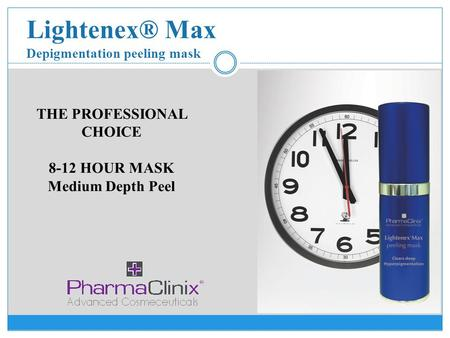 Lightenex® Max Depigmentation peeling mask THE PROFESSIONAL CHOICE 8-12 HOUR MASK Medium Depth Peel.