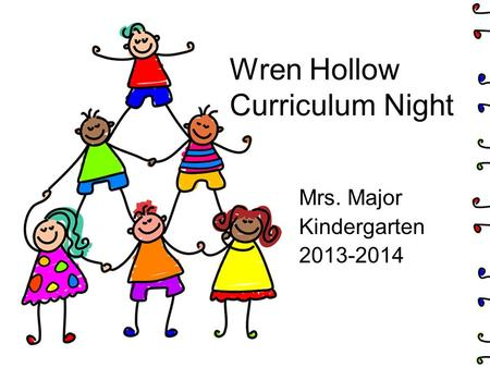 Wren Hollow Curriculum Night Mrs. Major Kindergarten 2013-2014.
