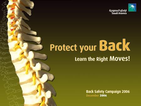 Back Safety  Your back is at work 24 hours a day.  It takes part in almost every move you make.  Because of its workload, your back is prone to injury.
