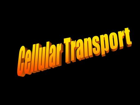 Cellular Transport.