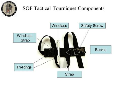 SOF Tactical Tourniquet Components Windlass Buckle Strap Safety Screw Tri-Rings Windlass Strap.