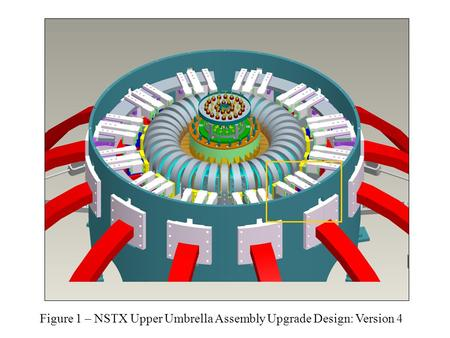 Figure 1 – NSTX Upper Umbrella Assembly Upgrade Design: Version 4.