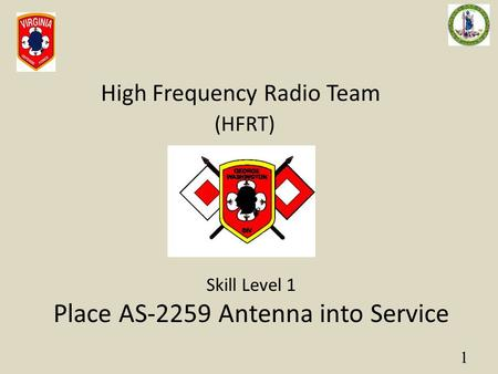 Place AS-2259 Antenna into Service