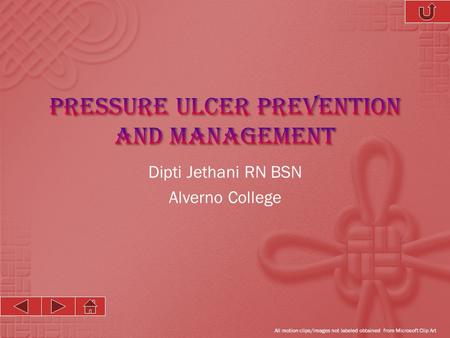 Pressure Ulcer Prevention and Management