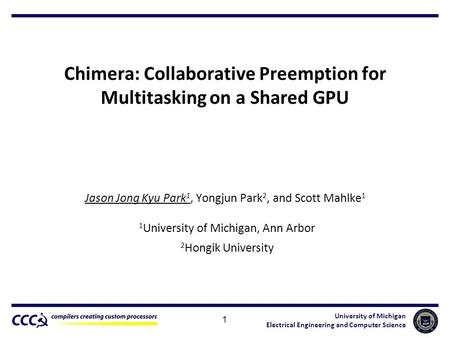 Chimera: Collaborative Preemption for Multitasking on a Shared GPU