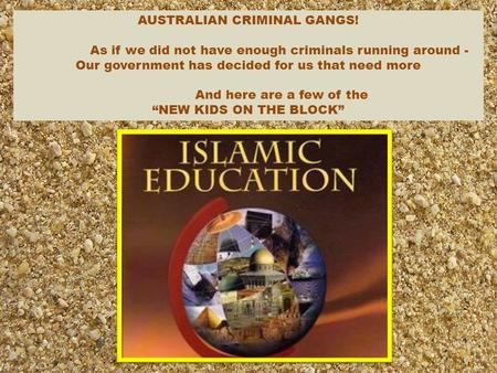 AUSTRALIAN CRIMINAL GANGS! As if we did not have enough criminals running around - Our government has decided for us that need more And here are a few.