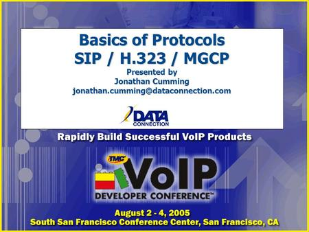 Basics of Protocols SIP / H