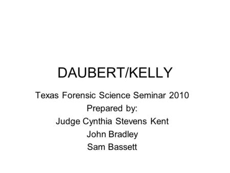 daubert standard essay Sample essay on daubert standard  the daubert standard is a standard that is often used by a trial judge that is used to make a preliminary assessment of whether an expert's scientific testimony can be said to be based on reasoning or even methodology that can be said to be scientifically valid and can often be properly applied to the facts at issue.