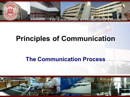 Principles of Communication The Communication Process.