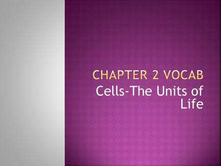 Cells-The Units of Life.  Smallest organisms on Earth  Made up of only one cell  Sentence:  Bacteria are 1 celled organisms.