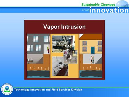 Vapor Intrusion. What is Vapor Intrusion? The migration of volatile chemical vapors from the subsurface to overlying buildings.