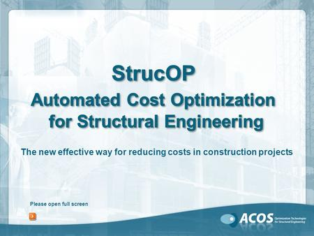Please open full screen The new effective way for reducing costs in construction projects.