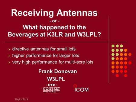 directive antennas for small lots higher performance for larger lots