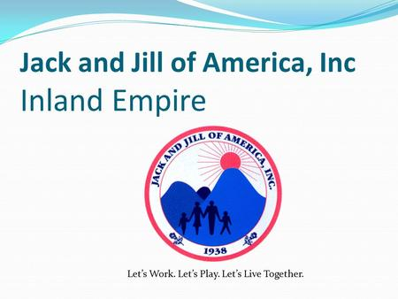 Jack and Jill of America, Inc Inland Empire