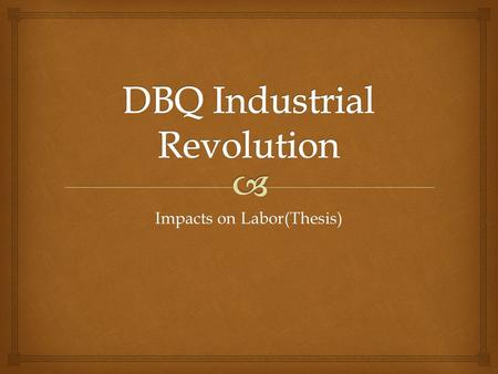 introduction for industrial revolution essay