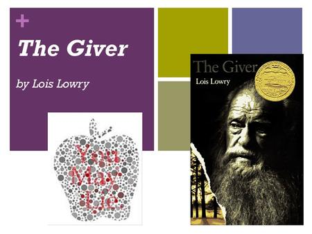 + The Giver by Lois Lowry. + Create your Reading Response Journal Table of Contents TABLE OF CONTENTS Part 1: Key Vocabulary (10 pages) Part 2: Reading.