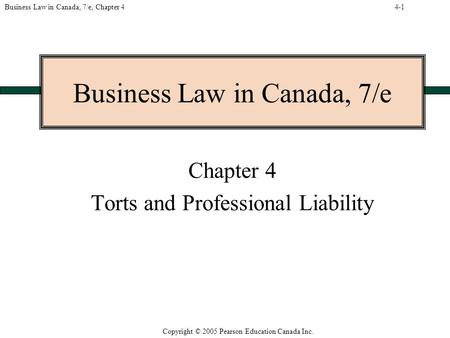 torts and professional liability Torts in canada retrieved  unless this falls under one of the strict liability torts  are applied increasingly to professional groups such as lawyers,.