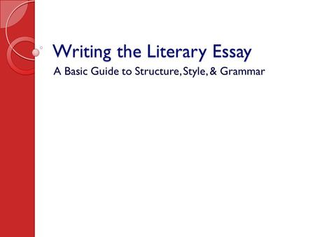 the basic structure of an essay has 5 pages In this introductory lesson you will find some guidance on how you should write an ielts essay there are then more lessons on the following pages for different types of essay and different questions, with lots of tips and strategies for achieving a high score  however, as you will see from the guidance on this page, they can all follow the same basic structure.