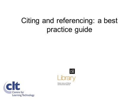 referencing in practice Using the harvard referencing system in olchc version number   title: nursing practice development coordinator location of.