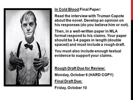 an analysis of cold blood by truman capote