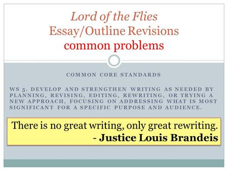 lord of the flies essays symbolism How can the answer be improved.