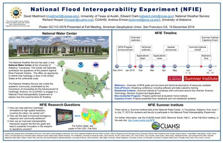 National Flood Interoperability Experiment (NFIE)